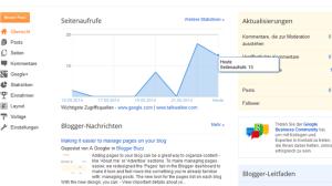 ziemlich mager: Die Übersicht von Blogger