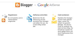 Blogger hat DIE Verbindung zu AdSense: vielversprechend.