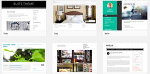 So viele schöne Themes, da fällt die Auswahl schwer (WordPress).