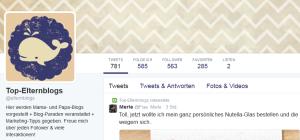 mein Twitter Account für topElternblogs