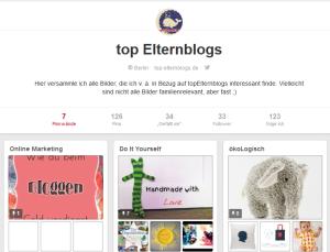 Pinterest-Account von topElternblogs