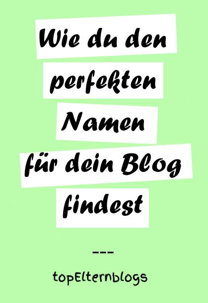 name für blog finden