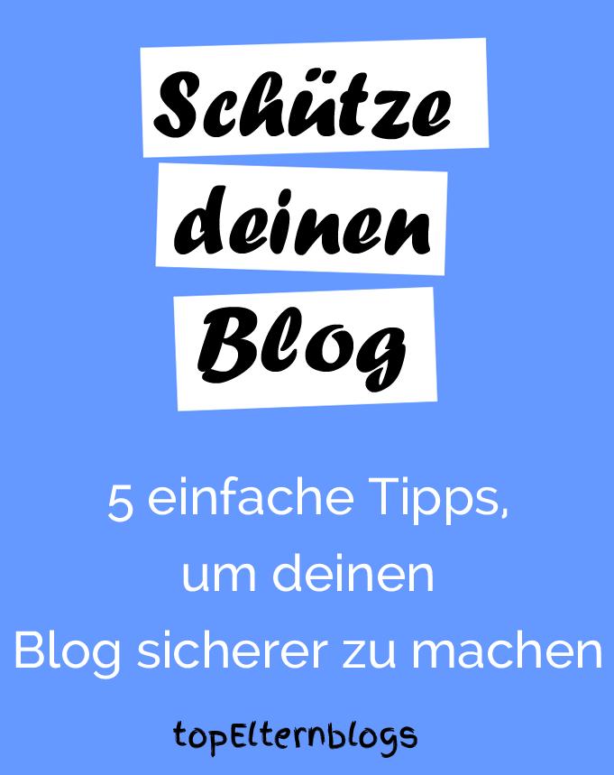 blog sicher machen