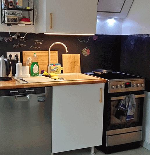 Tafelfarbe in der küche lieber nicht